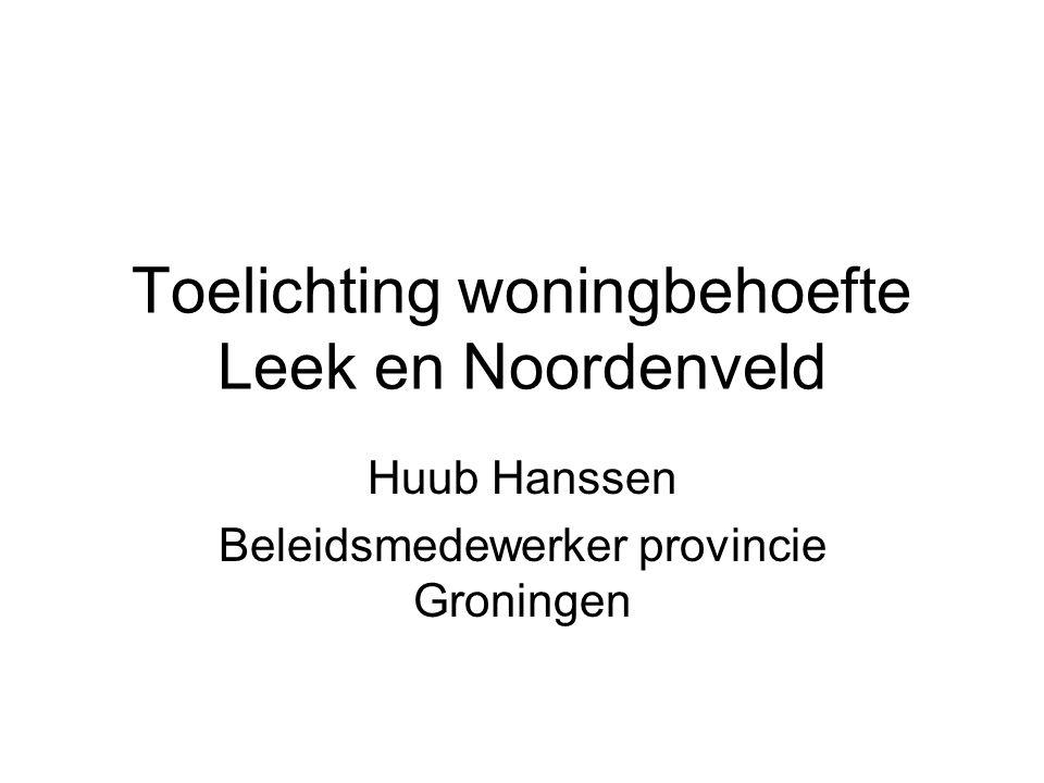 Toelichting woningbehoefte Leek en Noordenveld