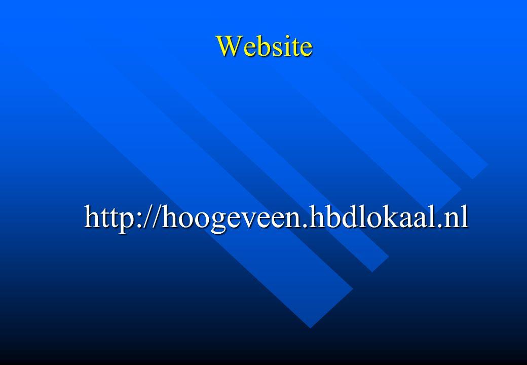 Website http://hoogeveen.hbdlokaal.nl