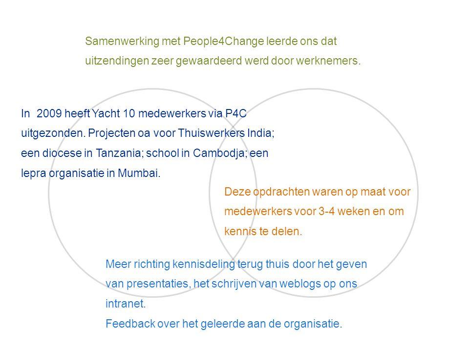 Samenwerking met People4Change leerde ons dat uitzendingen zeer gewaardeerd werd door werknemers.