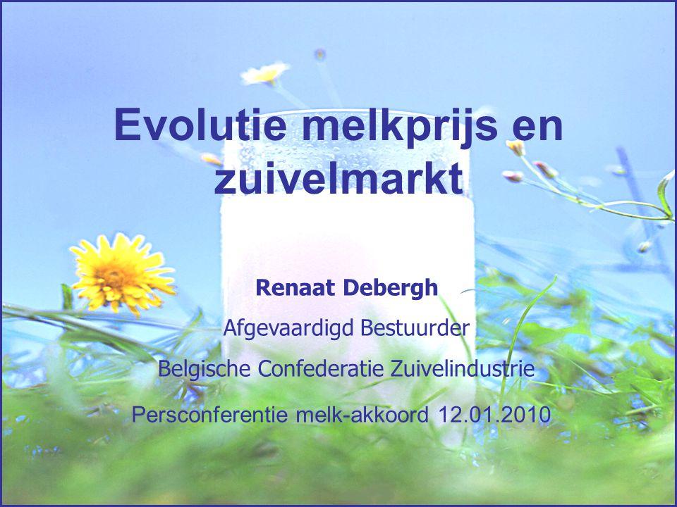 Evolutie melkprijs en zuivelmarkt