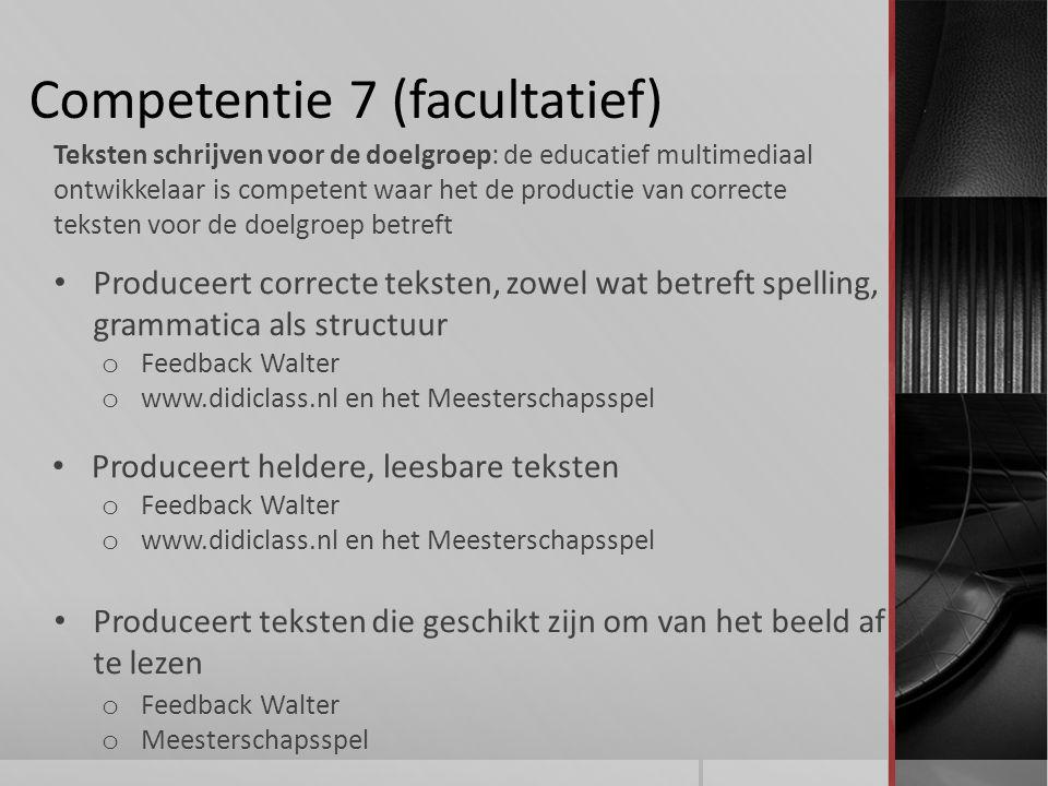 Competentie 7 (facultatief)
