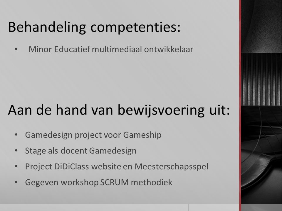 Behandeling competenties: