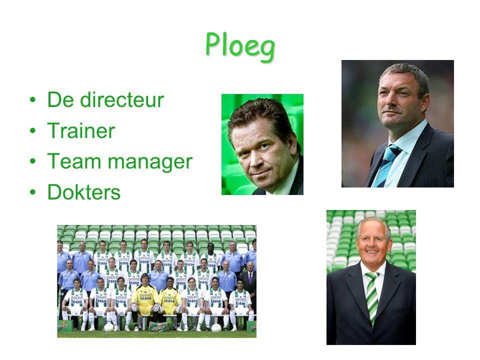 Ploeg De directeur Trainer Team manager Dokters