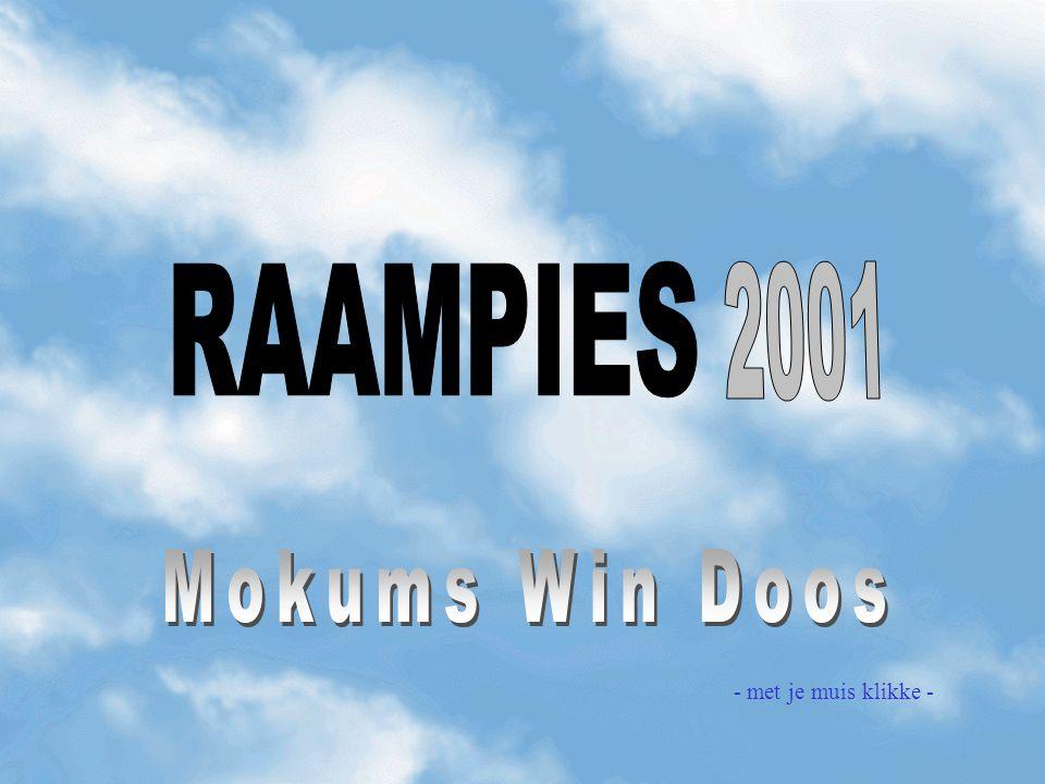 RAAMPIES 2001 Mokums Win Doos - met je muis klikke -