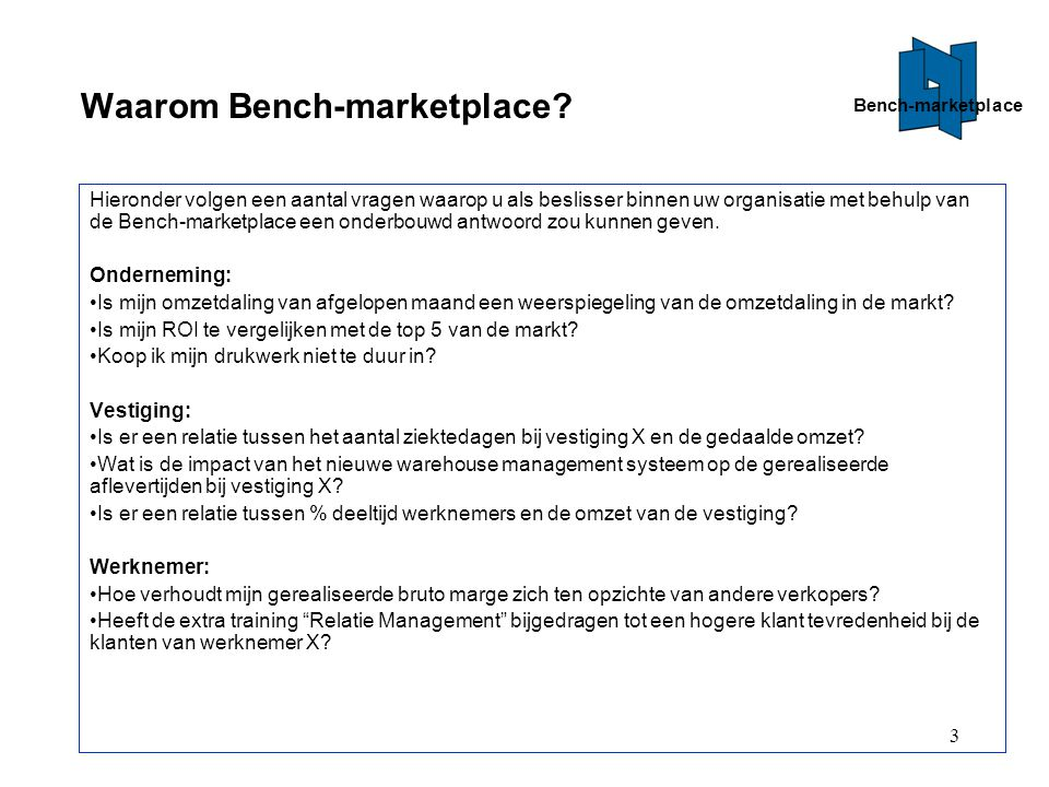 Waarom Bench-marketplace