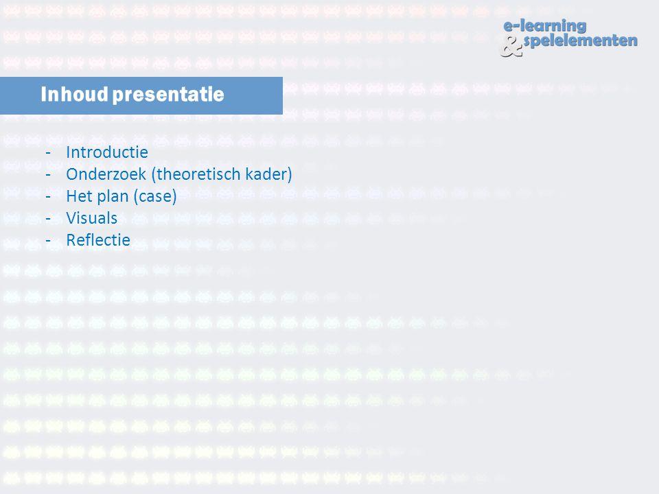 Inhoud presentatie Introductie Onderzoek (theoretisch kader)