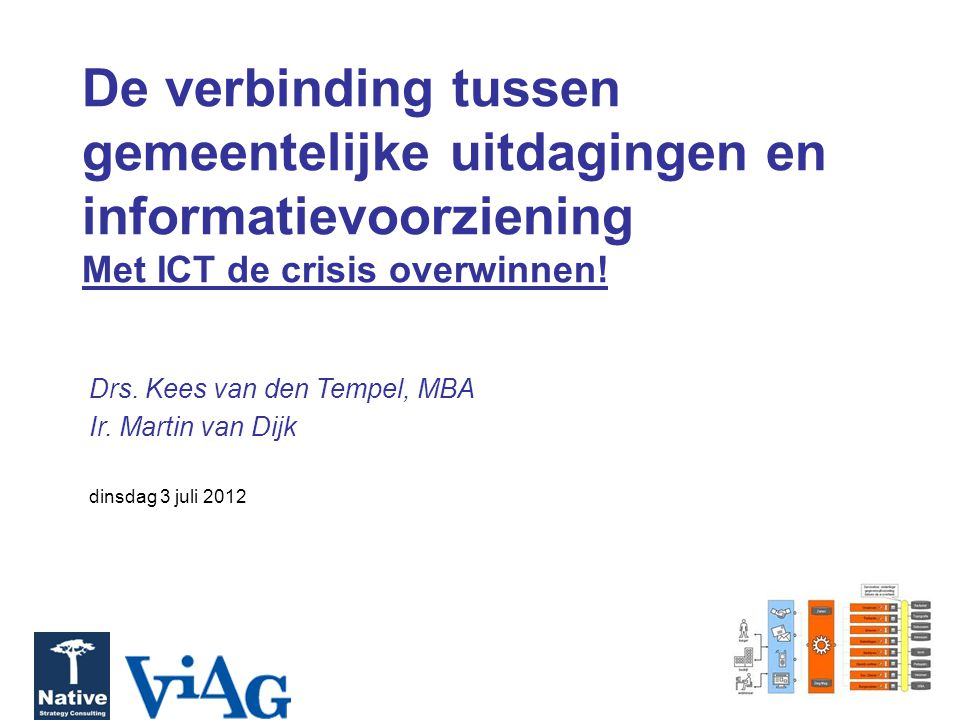 De verbinding tussen gemeentelijke uitdagingen en informatievoorziening Met ICT de crisis overwinnen!