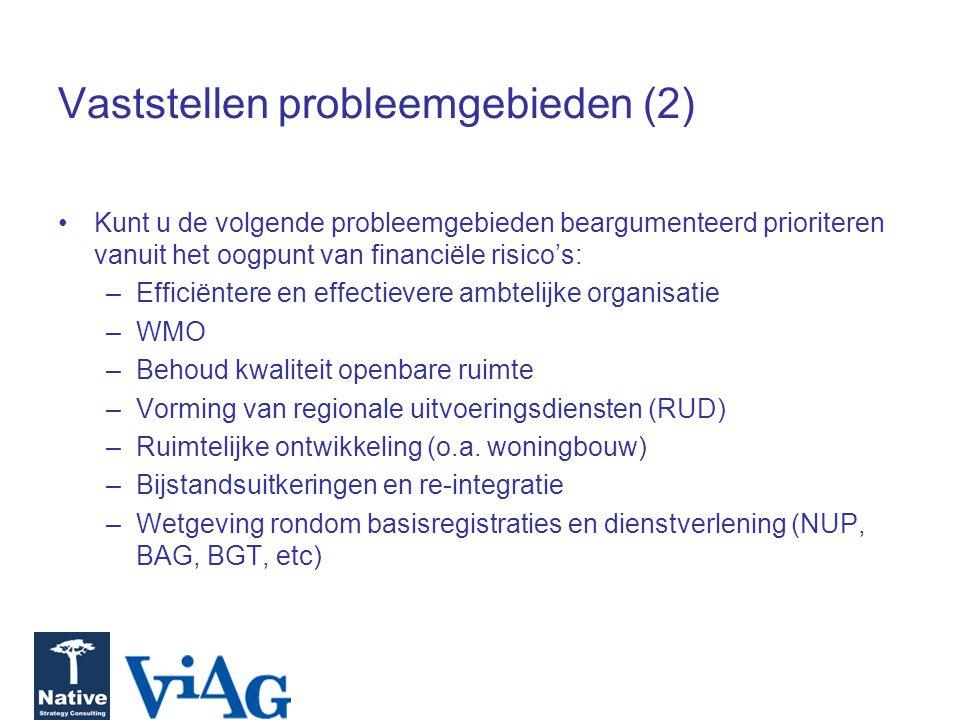 Vaststellen probleemgebieden (2)