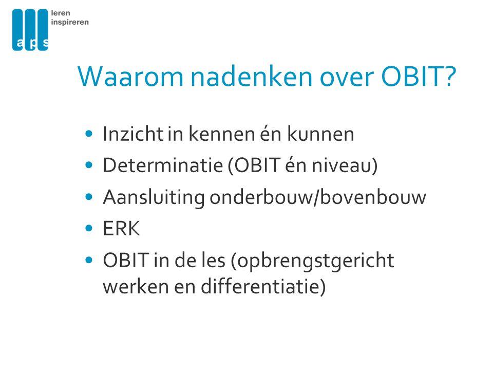 Waarom nadenken over OBIT