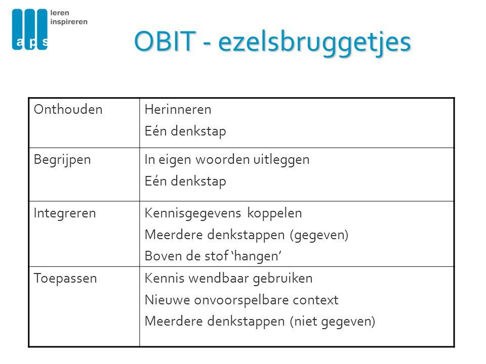 OBIT - ezelsbruggetjes