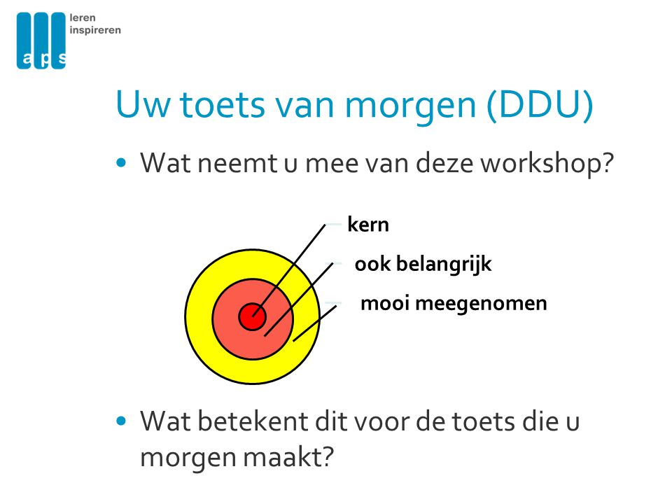 Uw toets van morgen (DDU)