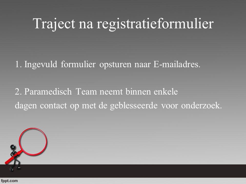Traject na registratieformulier