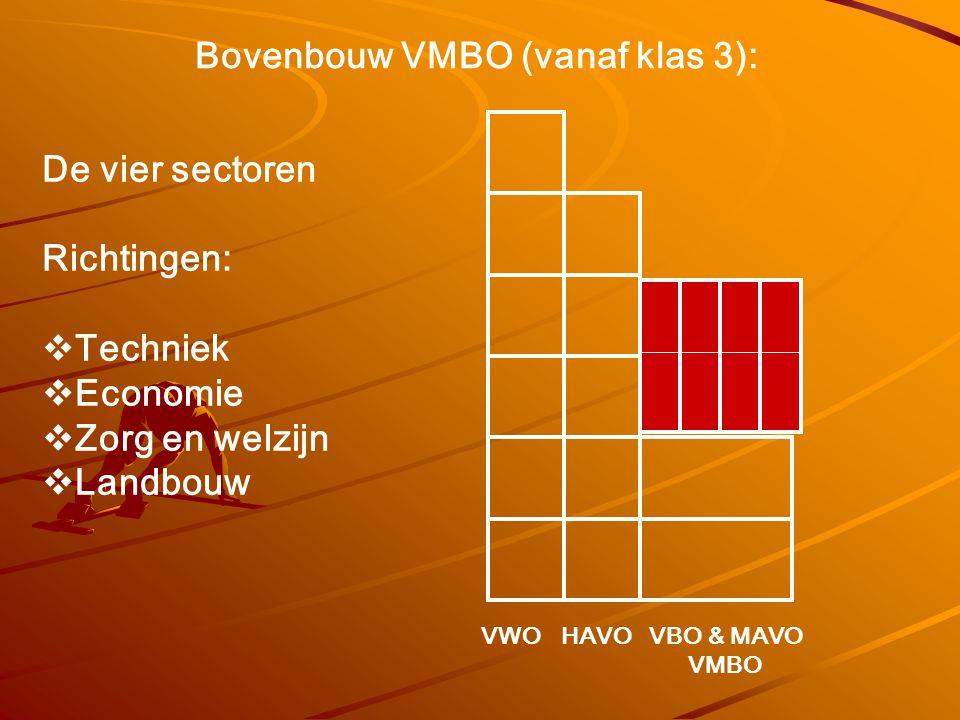 Bovenbouw VMBO (vanaf klas 3):