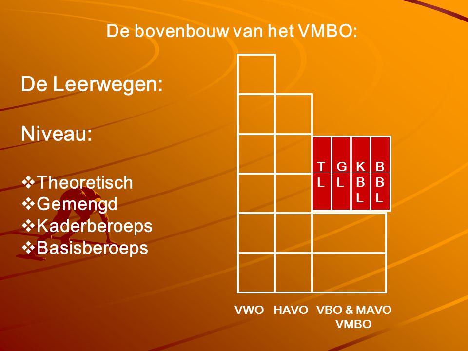 De Leerwegen: Niveau: De bovenbouw van het VMBO: Theoretisch Gemengd