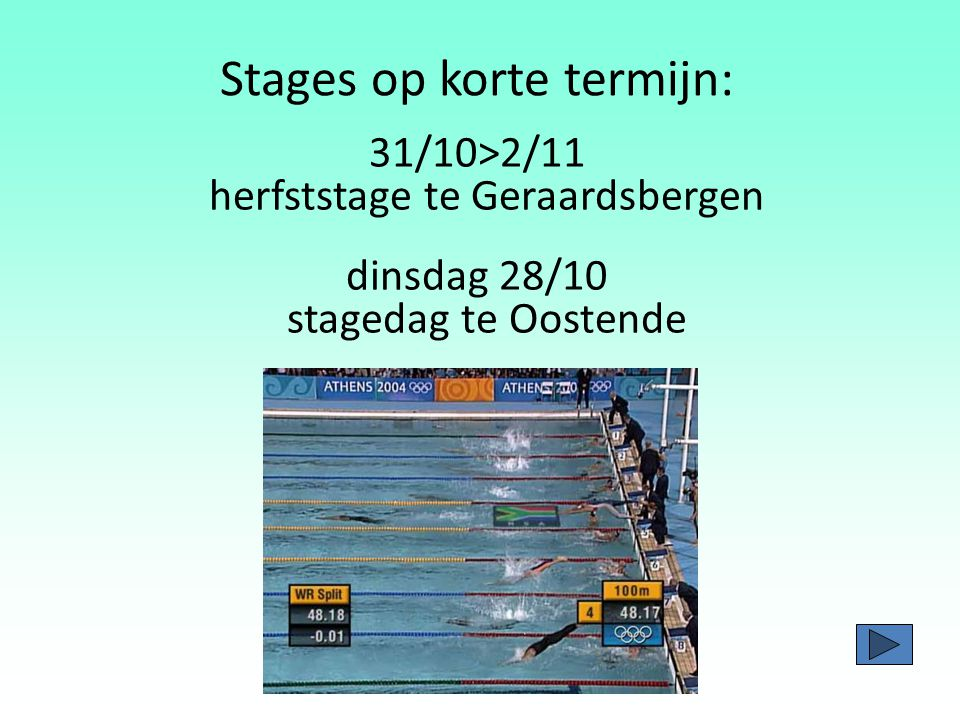 Stages op korte termijn: