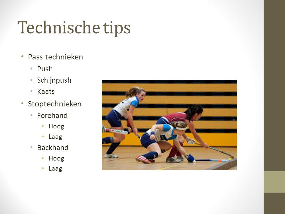Technische tips Pass technieken Stoptechnieken Push Schijnpush Kaats