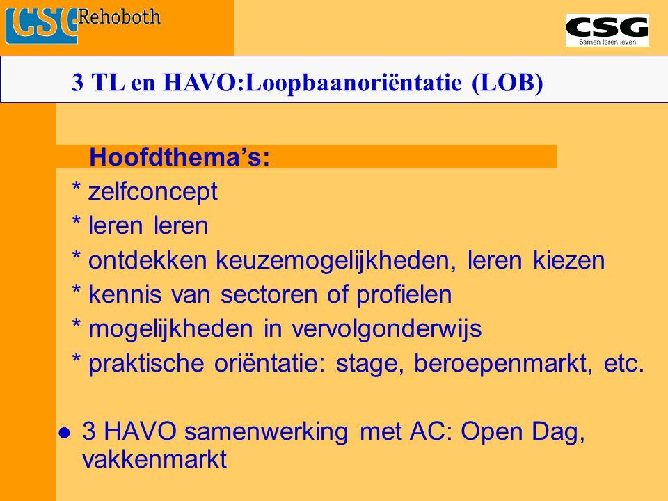 3 TL en HAVO:Loopbaanoriëntatie (LOB)