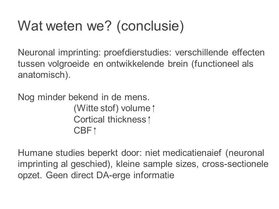 Wat weten we (conclusie)