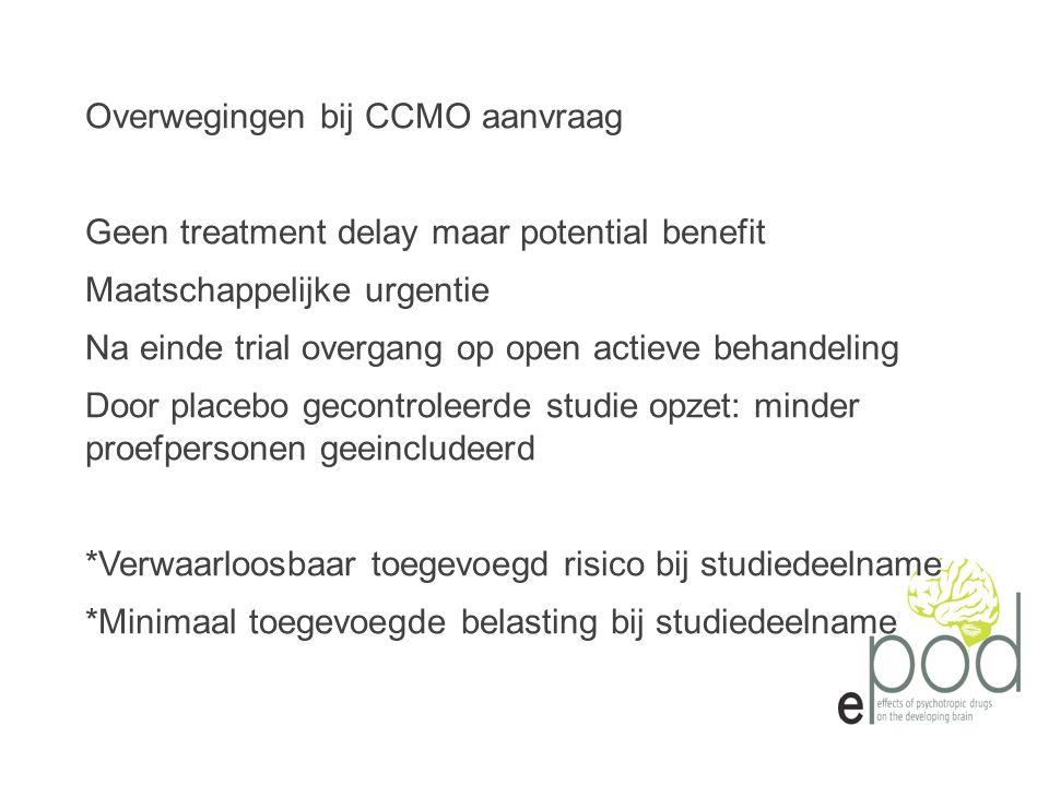 Overwegingen bij CCMO aanvraag