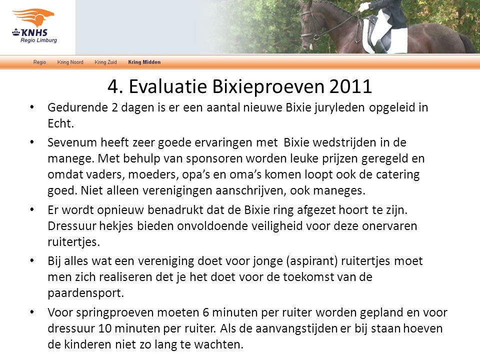 4. Evaluatie Bixieproeven 2011