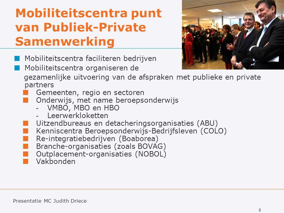 Mobiliteitscentra punt van Publiek-Private Samenwerking