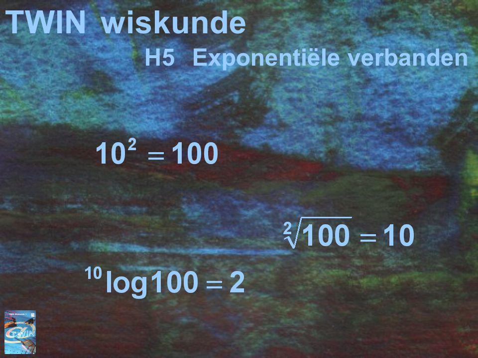 TWIN wiskunde H5 Exponentiële verbanden