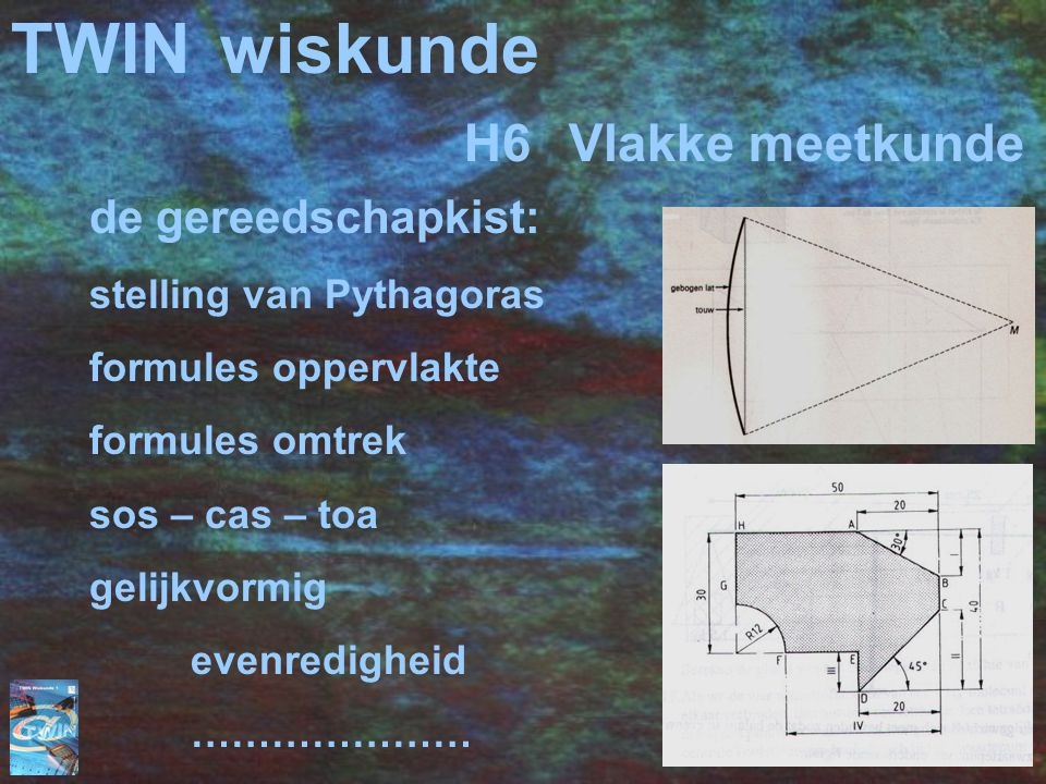 TWIN wiskunde H6 Vlakke meetkunde de gereedschapkist: