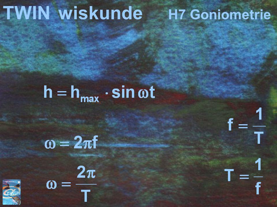 TWIN wiskunde H7 Goniometrie