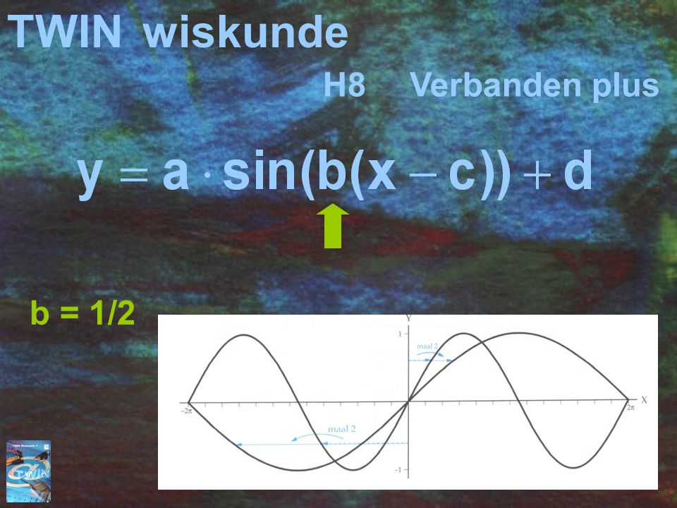 TWIN wiskunde H8 Verbanden plus b = 1/2