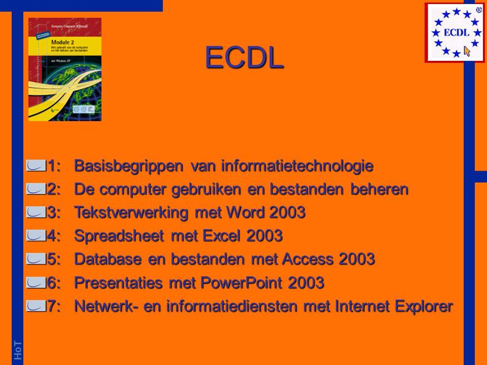ECDL 1: Basisbegrippen van informatietechnologie