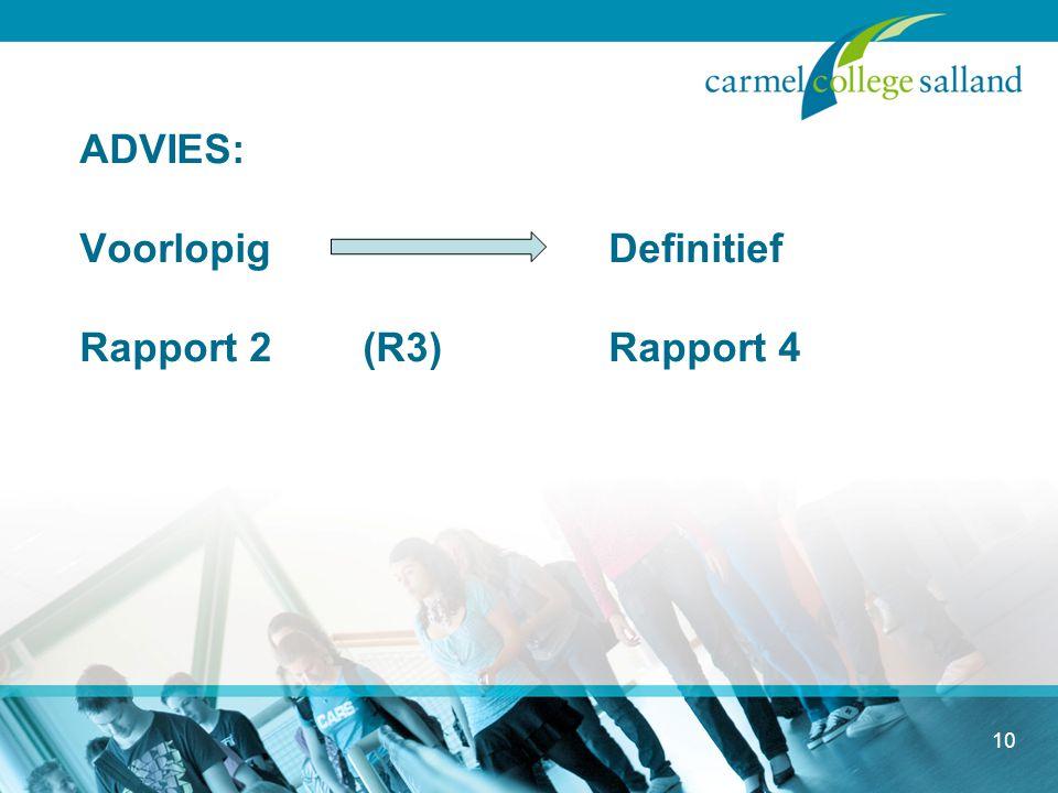 ADVIES: Voorlopig Definitief Rapport 2 (R3) Rapport 4