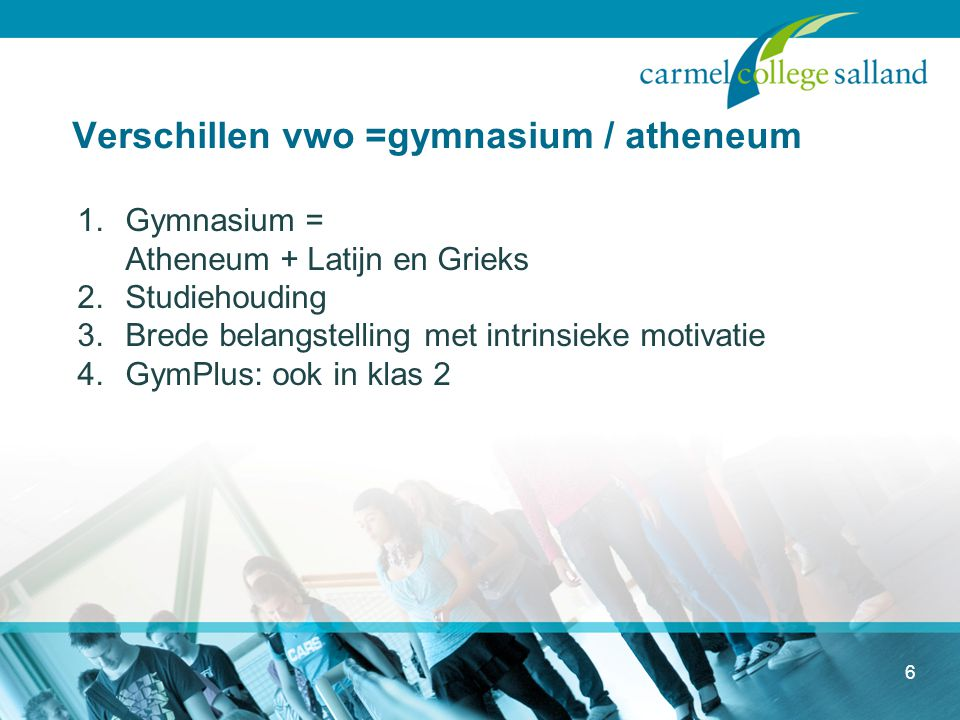 Verschillen vwo =gymnasium / atheneum