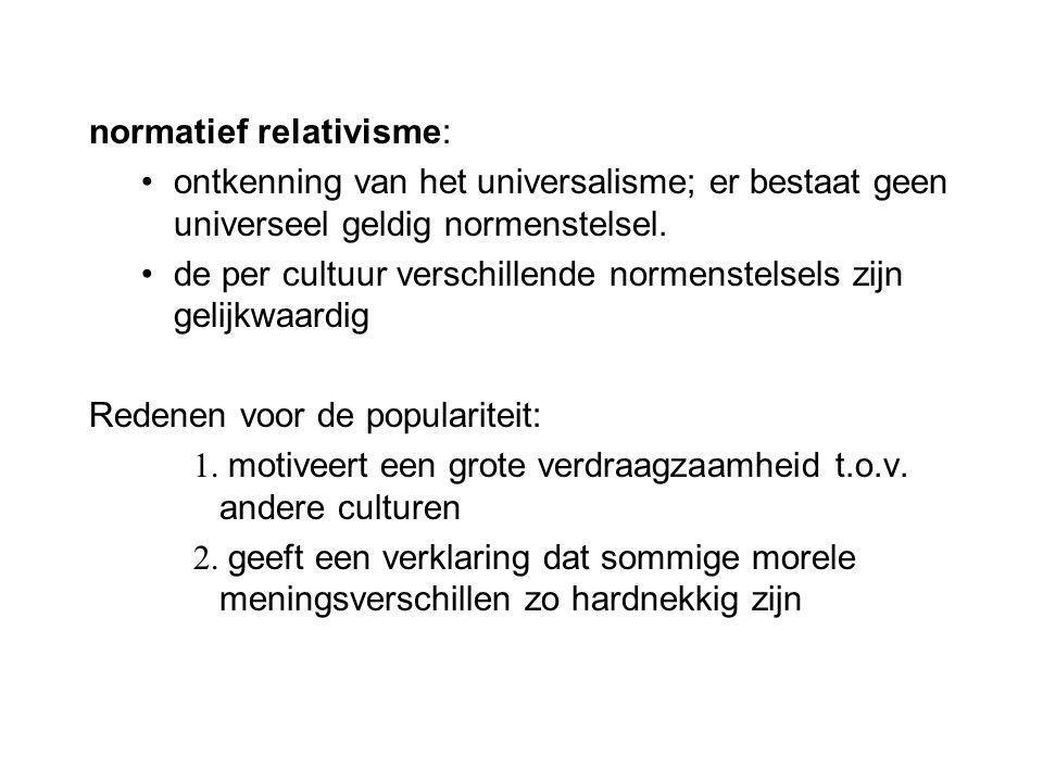 normatief relativisme:
