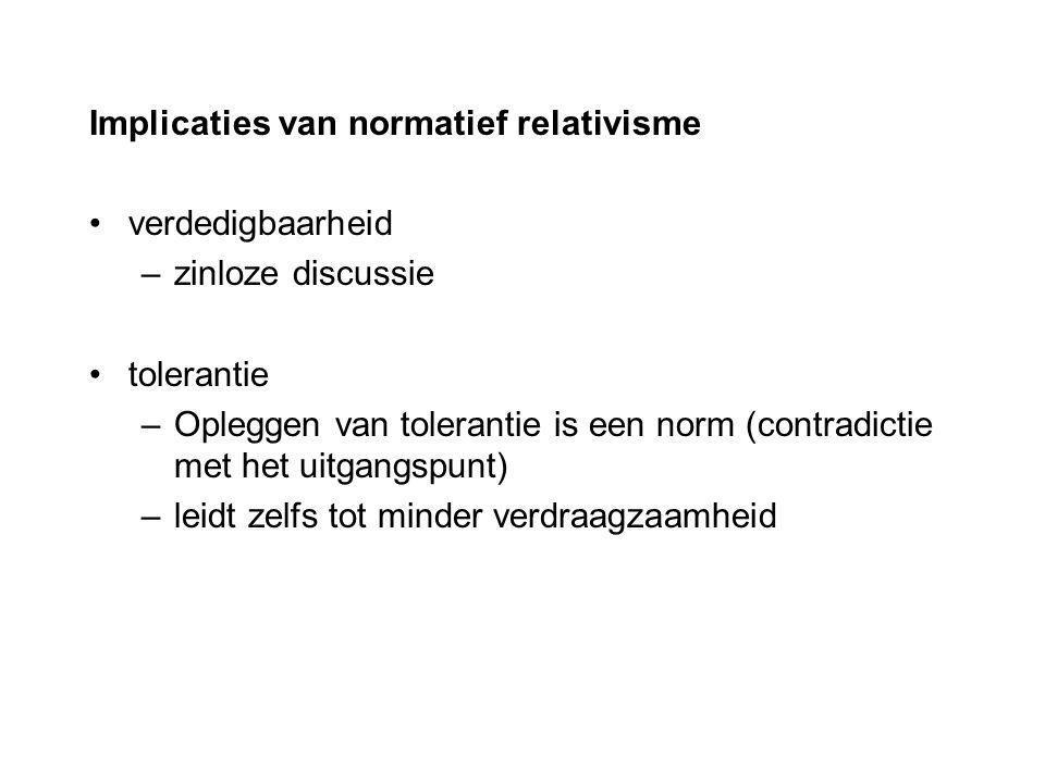 Implicaties van normatief relativisme