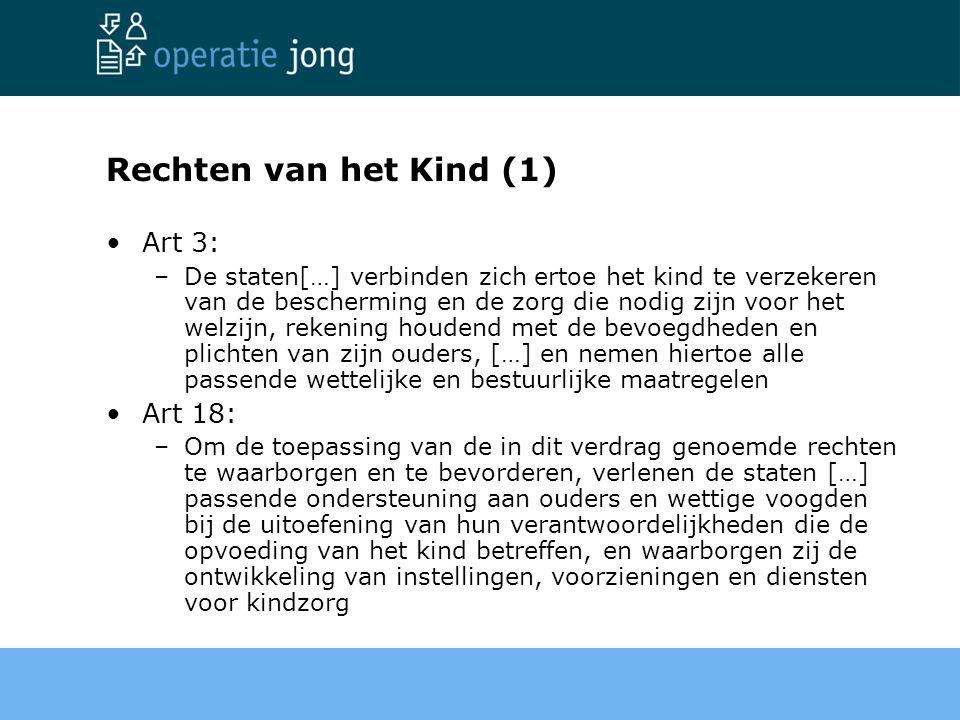 Rechten van het Kind (1) Art 3: Art 18: