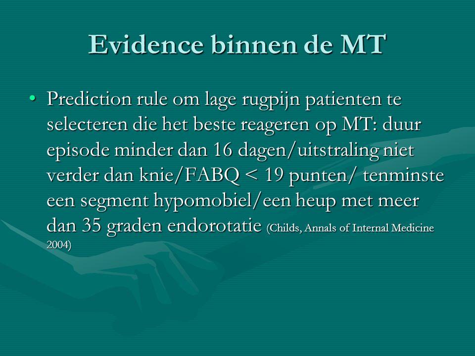 Evidence binnen de MT
