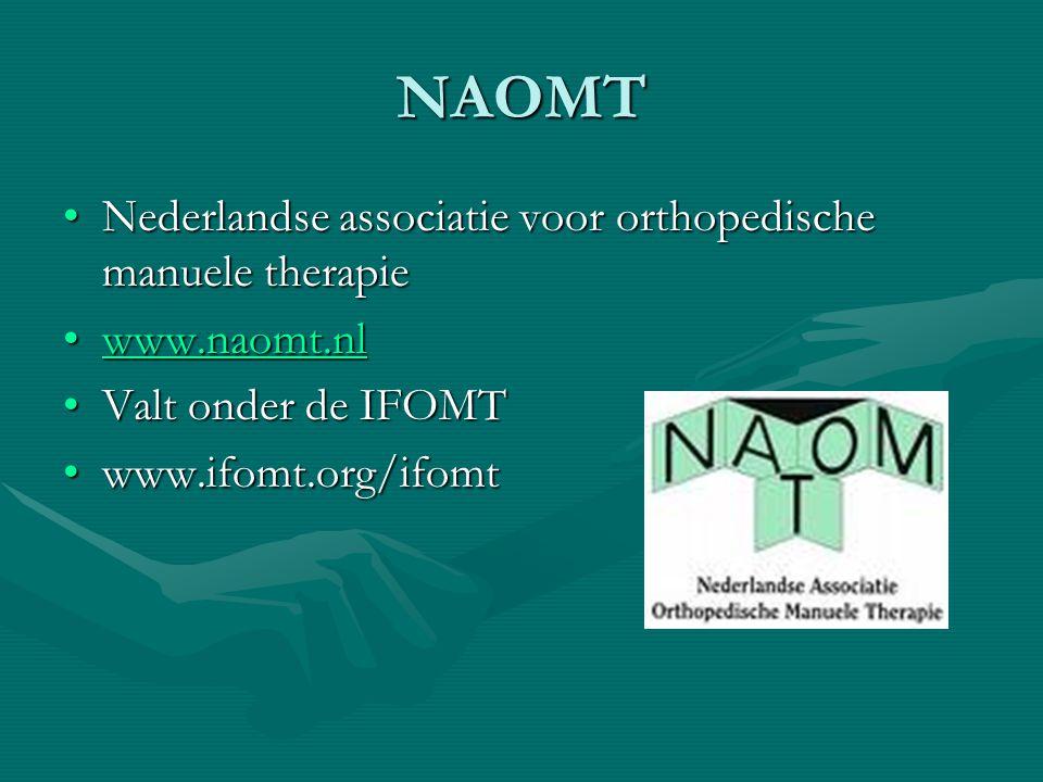 NAOMT Nederlandse associatie voor orthopedische manuele therapie