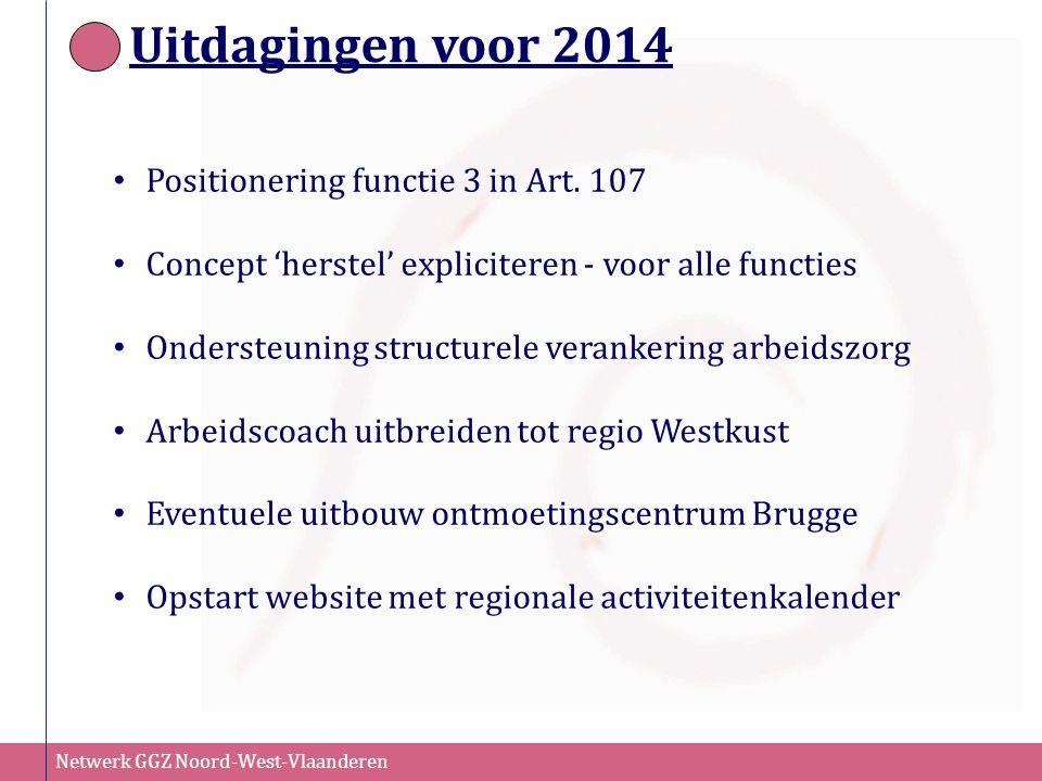 Uitdagingen voor 2014 Positionering functie 3 in Art. 107