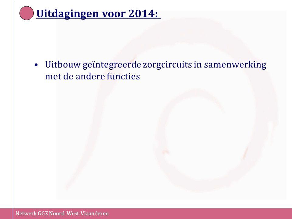 Uitdagingen voor 2014: Uitbouw geïntegreerde zorgcircuits in samenwerking met de andere functies