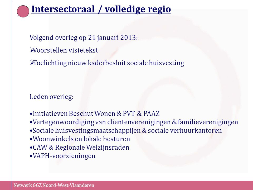 Intersectoraal / volledige regio