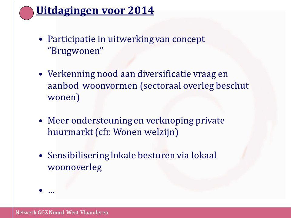 Uitdagingen voor 2014 Participatie in uitwerking van concept Brugwonen