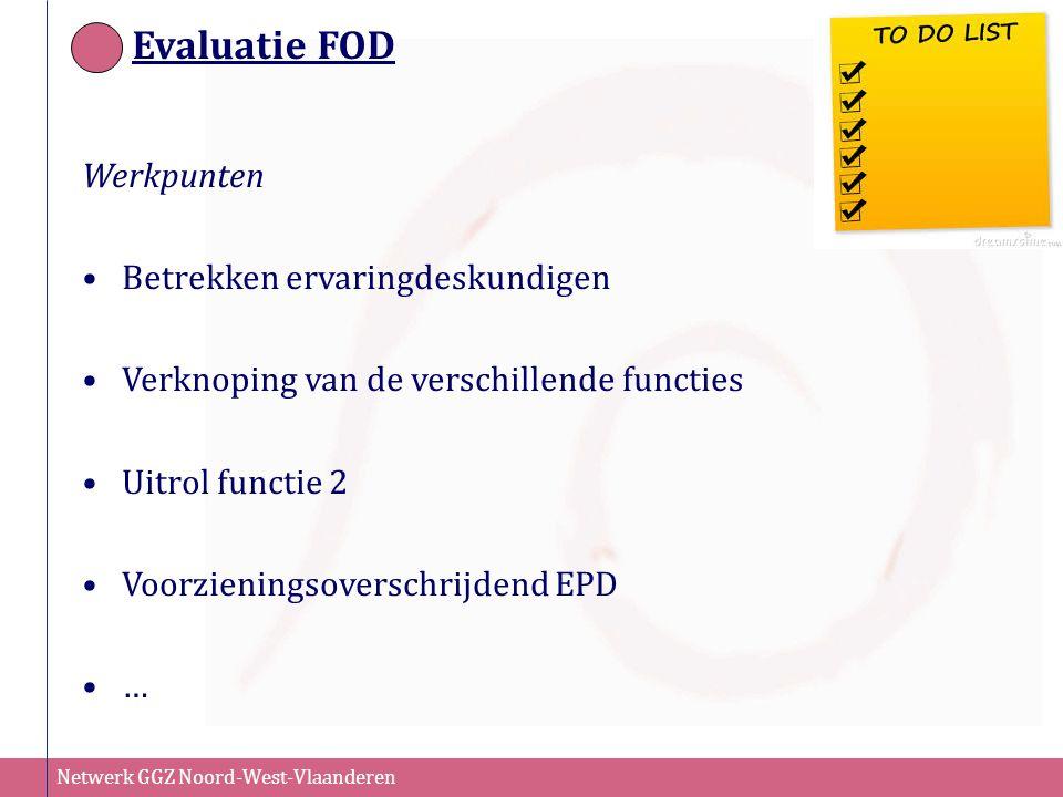 Evaluatie FOD Werkpunten Betrekken ervaringdeskundigen
