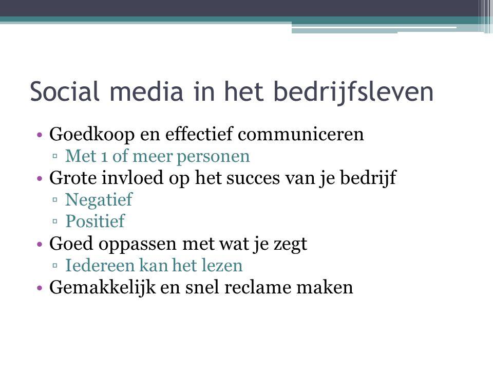 Social media in het bedrijfsleven