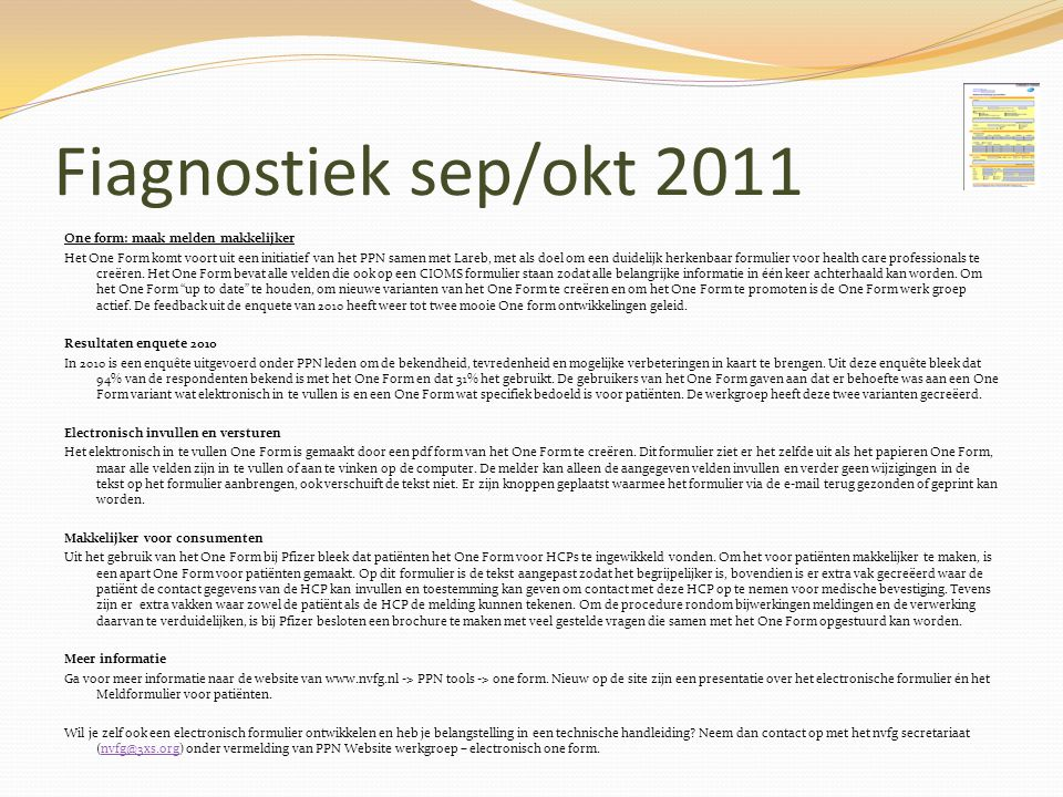 Fiagnostiek sep/okt 2011