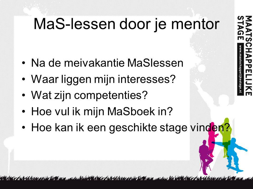 MaS-lessen door je mentor
