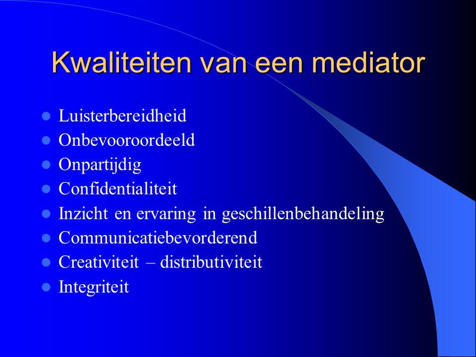 Kwaliteiten van een mediator