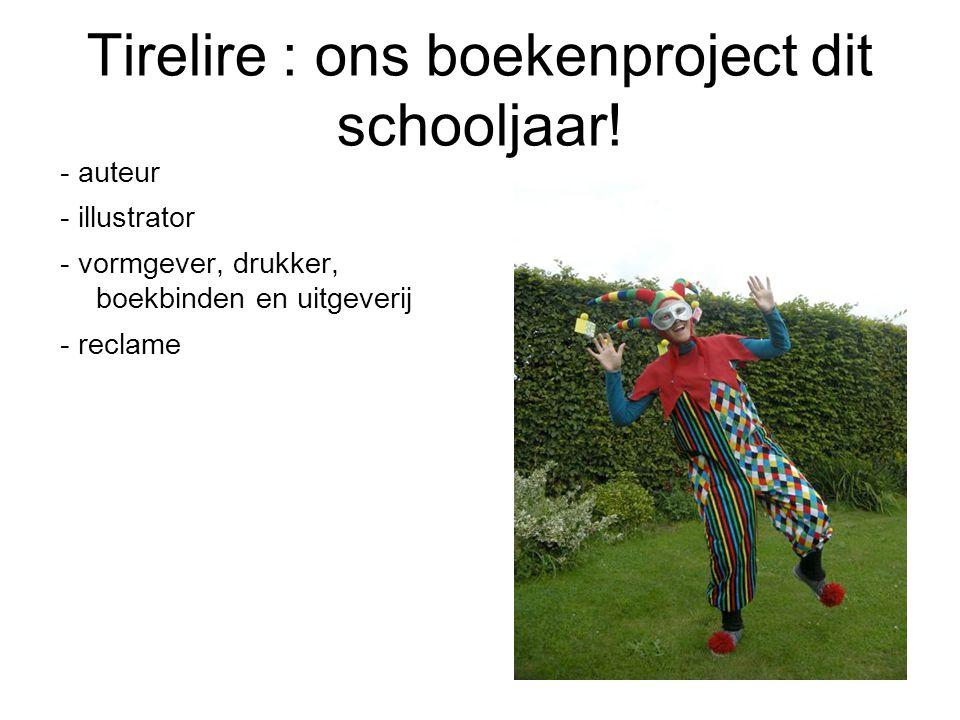 Tirelire : ons boekenproject dit schooljaar!