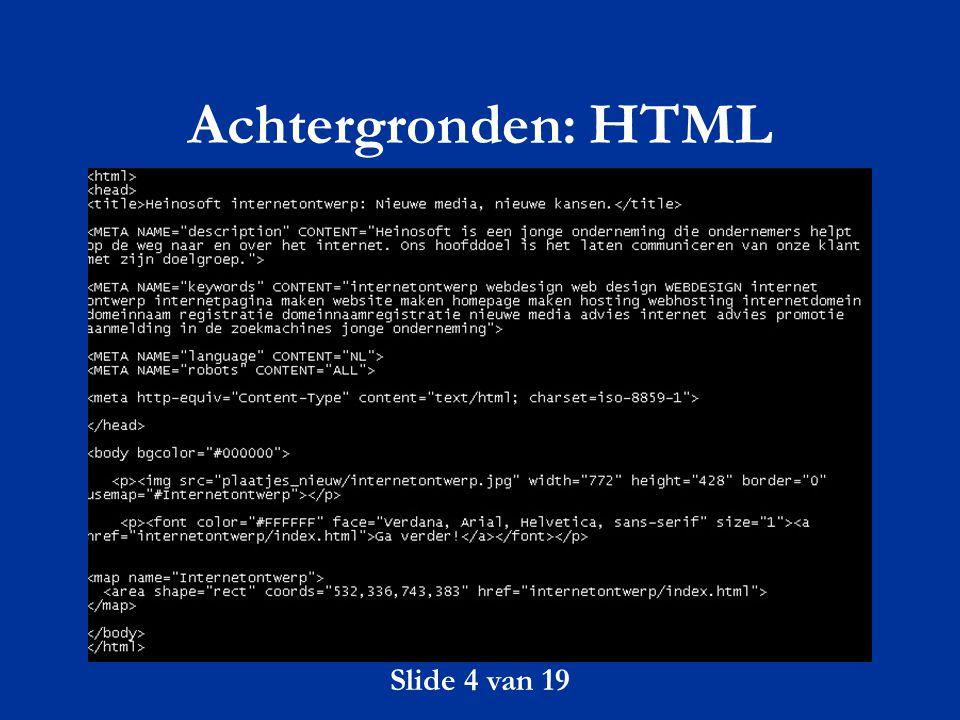 Achtergronden: HTML Slide 4 van 19