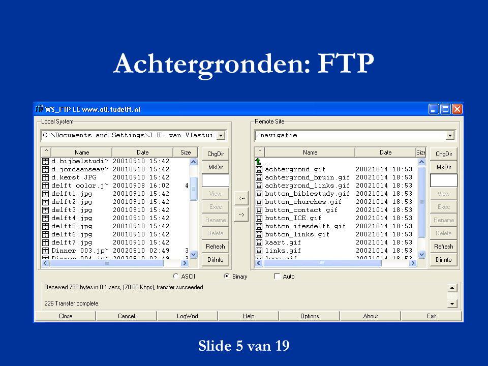 Achtergronden: FTP Slide 5 van 19