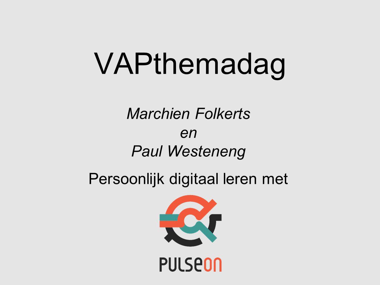 Marchien Folkerts en Paul Westeneng Persoonlijk digitaal leren met